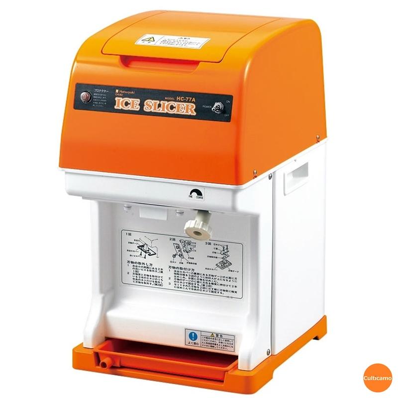 初雪 電動式 キューブアイススライサー HC-77B FAI-L1[関連:CHUBU 中部 業務用 電動 かき氷 カキ氷 調理機械 喫茶用品]