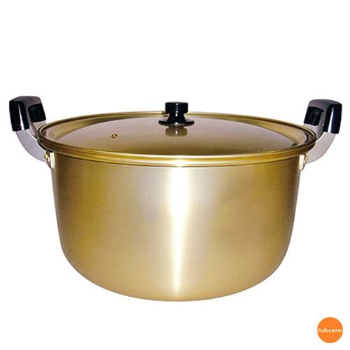 しゅう酸 アルマイト 寸胴鍋 42cm AZV-88[関連:業務用 前川金属 軽量 アルミ製 両手鍋 実用鍋 おでん 煮物 豚汁]