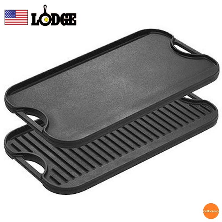 フラット面と油を落とすグリル面で食材に合わせて使い分けができます ロッジ リバーシブルグリドル 安心の定価販売 LPGI3 GLT-21 関連:LODGE LOGIC アメリカ ブランド グリルパン パーティー 鉄板 キャンプ バーベキュー アウトドア 全国一律送料無料 プレート 鋳鉄