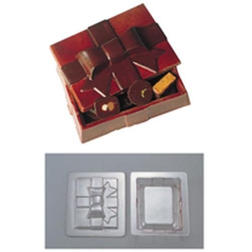 デコレリーフ チョコレートモルド ボックス型 EU-648 WTY-78[関連:DecoRelief フランス 業務用 ブランド 製菓 お菓子作り用品 立体 チョコレート型]