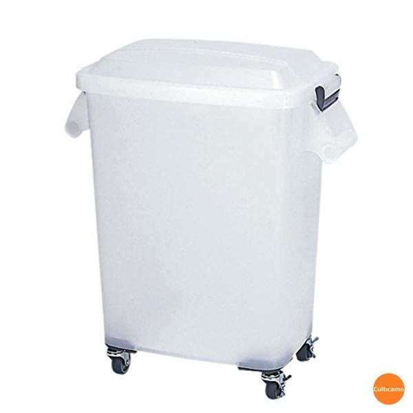 アロン化成 厨房ペール 半透明 (キャスター付) CK-70N ナチュラル KPC-38[関連:業務用 清掃用品 ゴミ箱 ダストボックス キャリー 小麦粉 粉入れ 食品 保管 容器]