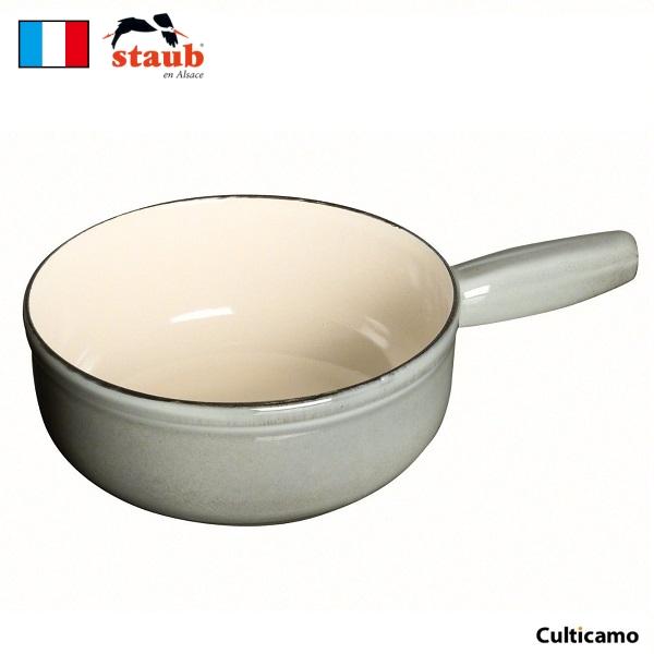 ストウブ チーズフォンデュポット 23cm グレー 40509-600 RST-B3[関連:staub フランス ブランド 卓上鍋 片手鍋 チョコレートフォンデュ バーニャカウダ]