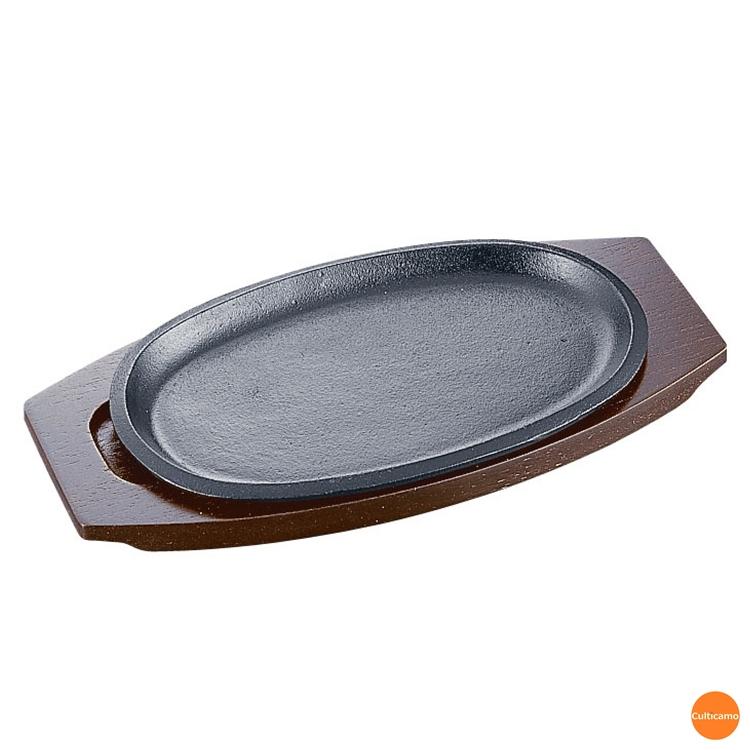 鉄鋳物で蓄熱性が高く カリッとジューシーに調理できます イシガキ 小判ステーキ皿 30cm 浅型 16-30 PIS-15 関連:イシガキ産業 業務用 IH100V ハンバーグ 鋳物鉄 鉄板 200V対応 焼肉 新作入荷 実物 パスタ 電磁調理器対応 テーブルウェア ステーキ用品