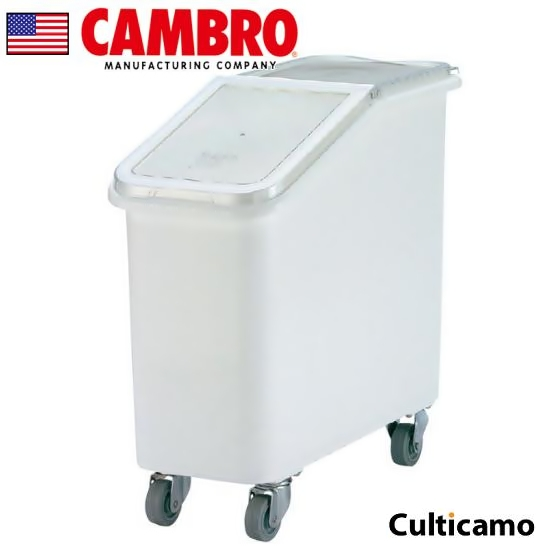 φ76mmの頑丈なキャスターで大量も食材も楽々運べます キャンブロ スラントラップ イングリーディエント・ビン IBS27 102L AIV-12【送料無料】[関連:CAMBRO アメリカ 保存容器 業務用 材料 食材 保存 容器]