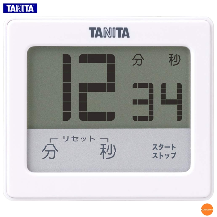 防水仕様 IPX7 で汚れが目立ちにくいデザイン タニタ 国内正規総代理店アイテム 防水タッチパネルタイマー TD-414 99分59秒計 ホワイト デジタル 防水 関連:TANITA BBS-38 キッチン小物 保証 キッチンタイマー 厨房