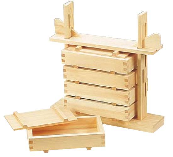 木製 押し寿司 5段セット 桧材 BSS-19【送料無料】[関連:業務用 調理小物 檜 押し寿し 箱寿司 寿し 抜き型 押し型 枠]