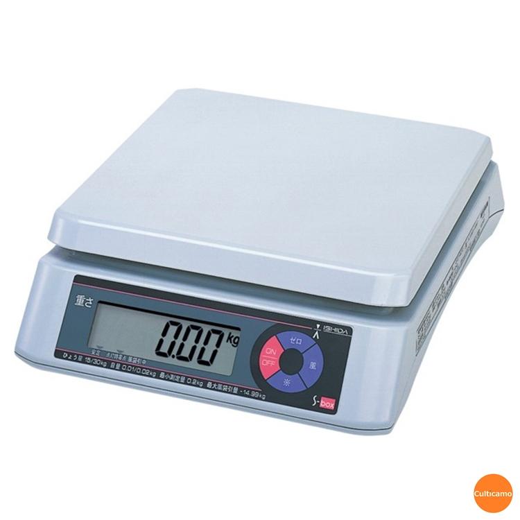 イシダ 上皿型 重量はかり S-box 15kg BHK-48【送料無料】[関連:ISHIDA 業務用 デジタル はかり 秤 取引証明 精密 計り]
