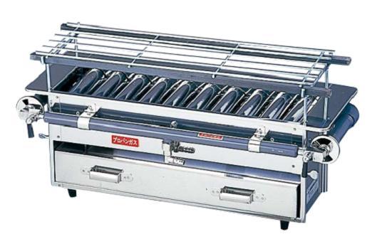 18-0 強力焼鳥器 小 LPガス用 DYK-04[関連:業務用 厨房機器 設備 焼物器 焼鳥機 出店 祭り やきとり 焼きとり 串やき うなぎ]