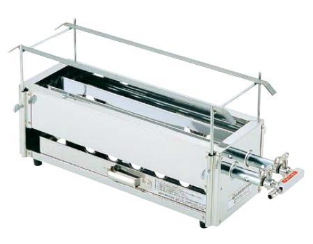 18-0 二本パイプ焼鳥器 小 LPガス用 DYK-07[関連:業務用 厨房機器 設備 焼物器 焼鳥機 出店 祭り やきとり 焼きとり 串やき うなぎ]