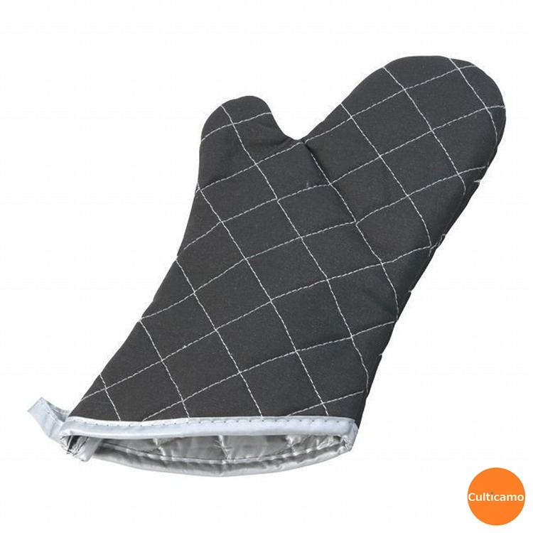 耐熱温度200℃の業務用オーブン手袋 TKG オーブンミット ブラック 片手 有名な 裏地付 中 34cm AOC-27 デリカ 激安通販 手袋 耐熱 作業 関連:遠藤商事 業務用 オーブン ベーカリー ミトン