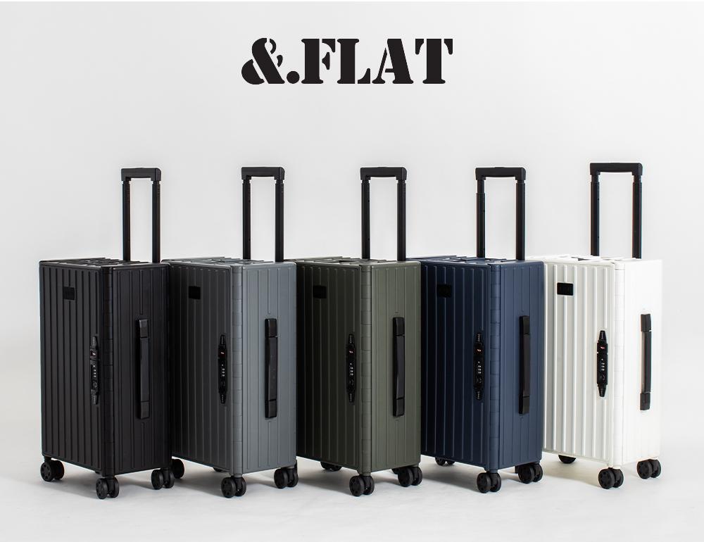.FLAT 折り畳めるキャリーケース 35L マットカラーシリーズ ネームタグ付き スーツケース 当店は最高な サービスを提供します 折り畳み 激安挑戦中 おすすめ ポリカーボネイト 薄型 TSAロック FLAT アンドフラット ブランド ビジネス