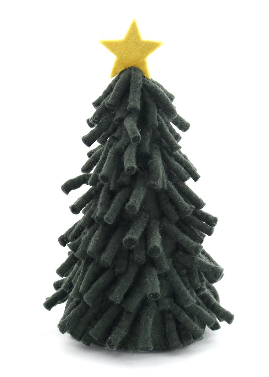 受注生産品 温かみのあるウールフェルトをひとつひとつ心をこめて手作りしたクリスマス オーナメント達 merry ウール100% カラー:GREEN お得クーポン発行中 モジャツリー