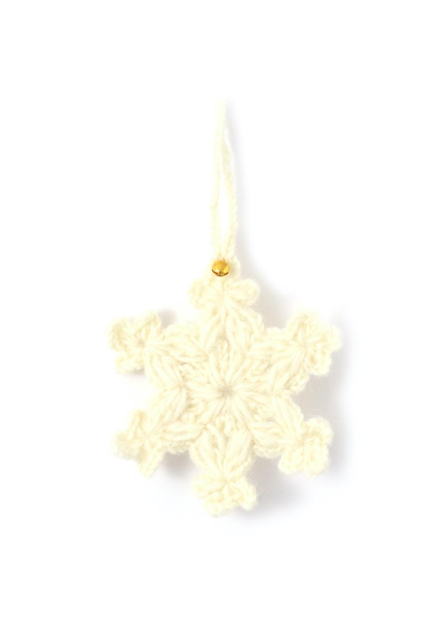 温かみのあるウールフェルトをひとつひとつ心をこめて手作りしたクリスマス オーナメント達 merry ウール100% カラー:WHITE 感謝価格 雪の結晶 本日の目玉