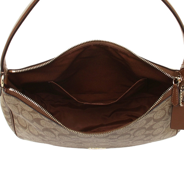 33b99eee0d Coach bag outlet COACH F29209 signature canvas zip shoulder bag Lady s shoulder  bag