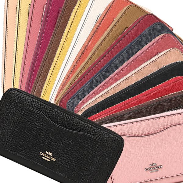 1a927fc8f4c Coach cross grain leather accordion zip wallet Lady's long wallet outlet  F54007