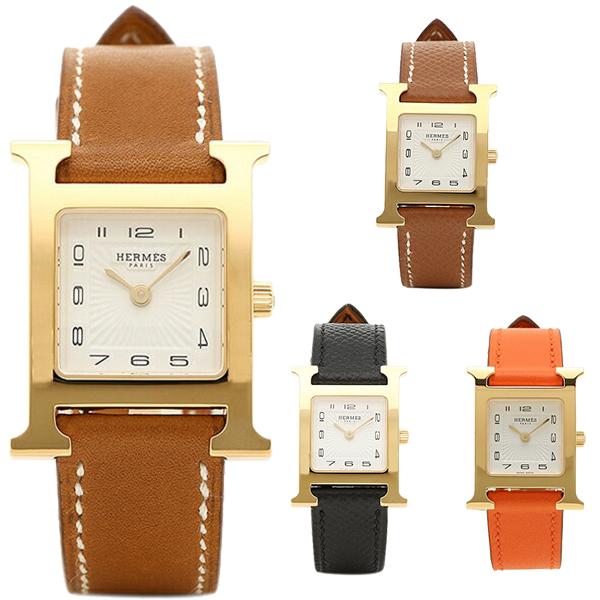 エルメス 腕時計 レディース HERMES Hウォッチ PM 21MM ゴールド