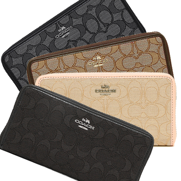 0896f298b20 Coach outline signature accordion zip wallet Lady's long wallet outlet  F54633 ...