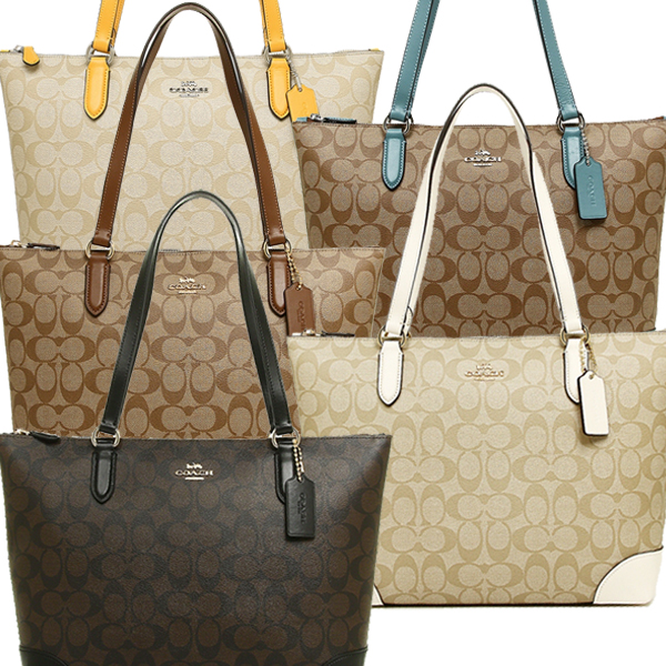 Coach Bag Outlet F29208 Zip Top Thoth Signature Canvas Lady S Tote