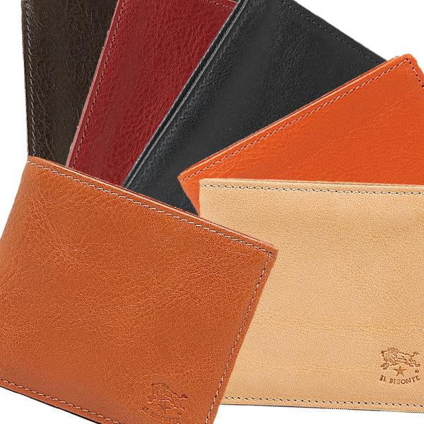 【4時間限定ポイント5倍】イルビゾンテ 折財布 メンズ IL BISONTE C0817 P 選べるカラー