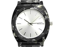 Nixon NIXON clock thyme Teller watch men Nixon watch thyme Teller NIXON A3271039 THE TIMETELLER ACETATE acetate men / men watch silver