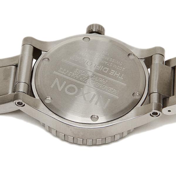 Nixon NIXON watch watches mens Nixon watch women's / men's NIXON A277000 DIPLOMAT SS watch silver / black