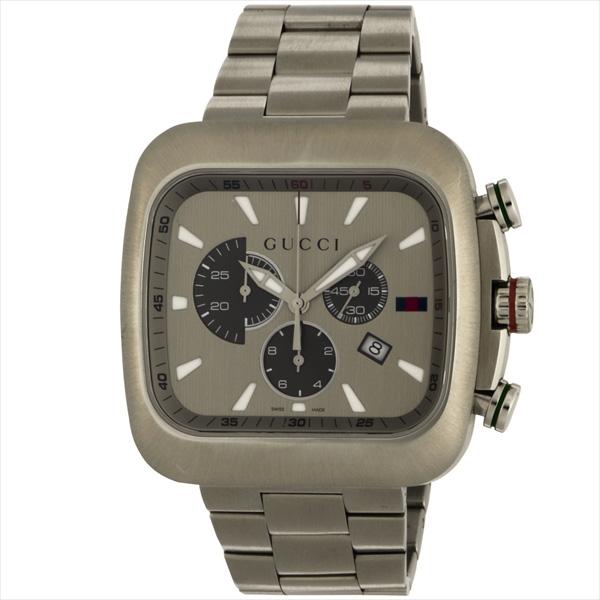 グッチ 時計 メンズ GUCCI グッチクーペ 腕時計 ウォッチ グレー