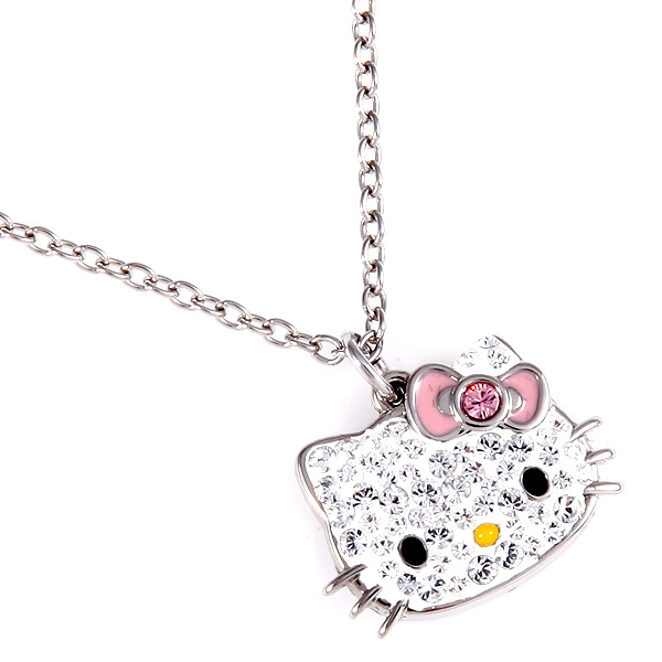 Brand shop axes rakuten global market swarovski necklace ladys swarovski necklace ladys swarovski 5013195 hello kitty pink hello kitty crystal pendant clear pink mozeypictures Image collections