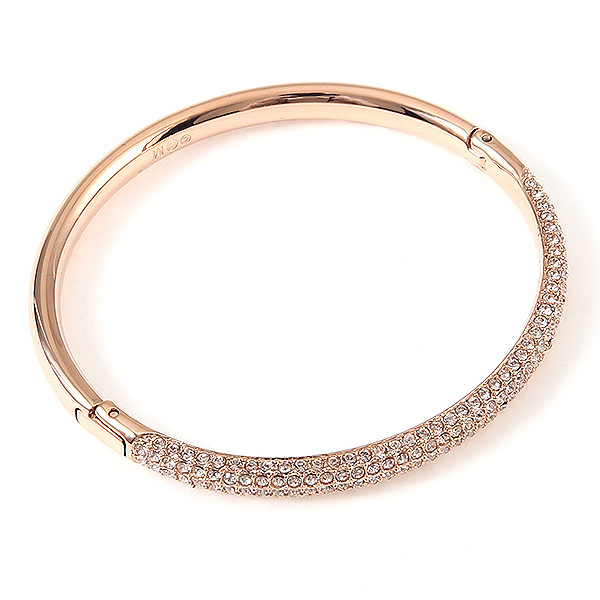 Swarovski Bracelet Lady S 5032850 Stone Mini Crystal Bangle Rose Gold Clear