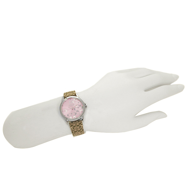 Coach watch Lady's COACH 14501621 classical music NEW CLASSIC SIGNATURE new classical music signature clock / watch pink