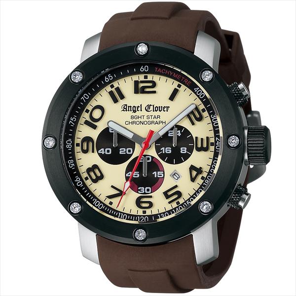 エンジェルクローバー ANGEL CLOVER 時計 腕時計 メンズ エンジェルクローバー 時計 メンズ ANGEL CLOVER NES46BSB-LB 8GHTSTAR エイトスター 腕時計 ウォッチ ブラウン/アイボリー