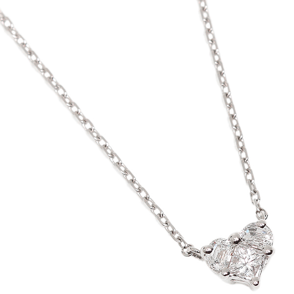 Brand shop axes rakuten global market gucci by gucci necklace gucci by gucci necklace gucci necklace gucci 272768 j8540 9066 heart diamond pendant silver mozeypictures Images