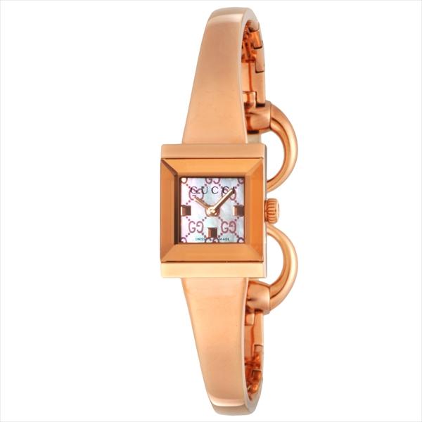 【6時間限定ポイント10倍】【返品OK】グッチ GUCCI 時計 レディース 腕時計 グッチ 時計 GUCCI YA128518 G-FRAME 腕時計 ウォッチ ピンクゴールド/ピンクパール