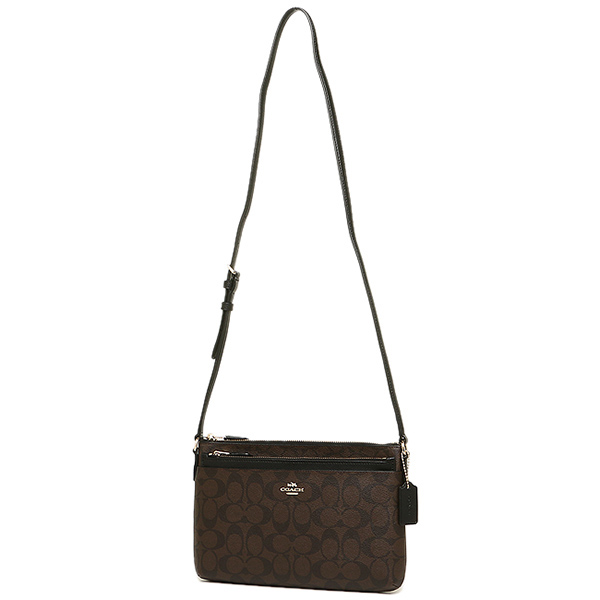 aecd164df8da ... Coach COACH bag outlet F52657 1MAA8 signature cross body with porch  shoulder bag brown black ...