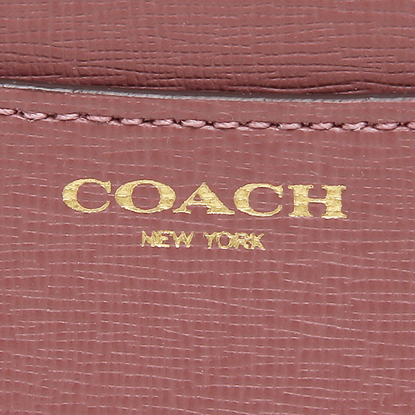 코치 코인 케이스 COACH 50732 LIROU 사피아노레자미디암스키니 동전 지갑 루즈