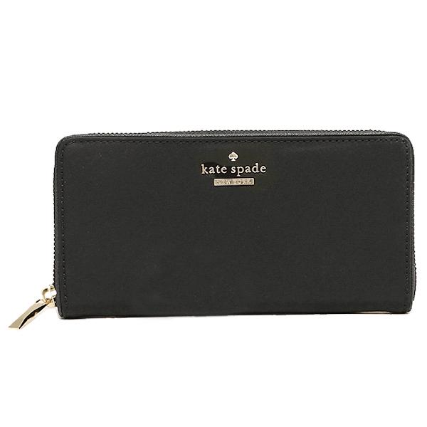 Kate spade KATE SPADE wallets purse Kate spade purse KATE SPADE PWRU4094 001 CLASSIC NYLON LACEY long wallet BLACK