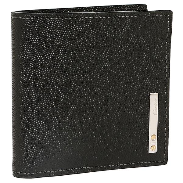 カルティエ Cartier 財布 レディース Cartier カルティエ L3000772 サントスライン 2つ折り財布 ブラック