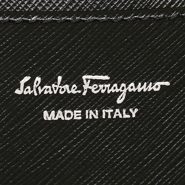 Salvatore Ferragamo wallet Salvatore Ferragamo 224633 0273805 GANCIO ICONA VITELLO long wallet NERO black