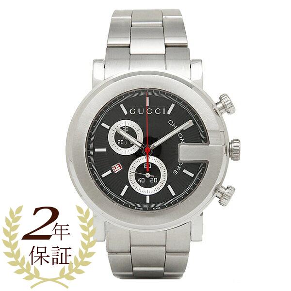 【4時間限定ポイント10倍】グッチ GUCCI 時計 腕時計 グッチ 時計 メンズ 腕時計 GUCCI YA101309 Gラウンド クロノグラフ ステンレス ブラック/シルバー