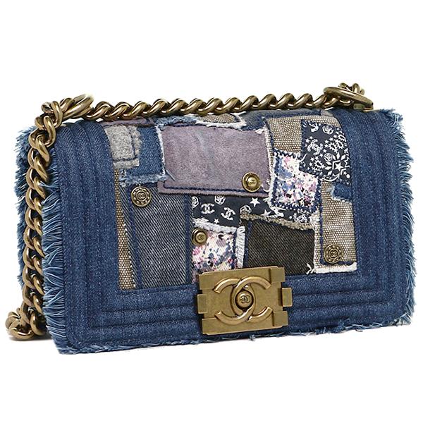 Chanel Bag Shoulder Lady S A92866 Y10892 C2084 Small Boy Chaenl Flap Gold Metal Ings Denim