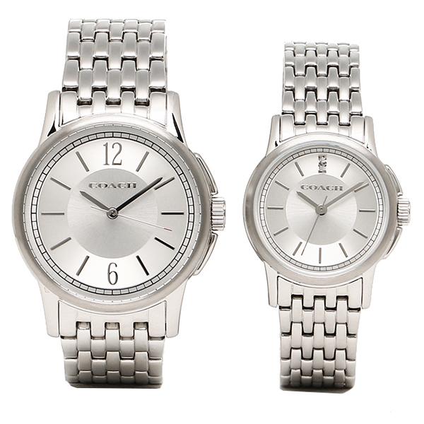 【返品OK】コーチ COACH 時計 腕時計 コーチ ペアウォッチ 時計 メンズ/レディース COACH 14000048 New Classic Signature ニュークラシックシグネチャー 腕時計 ウォッチ シルバー