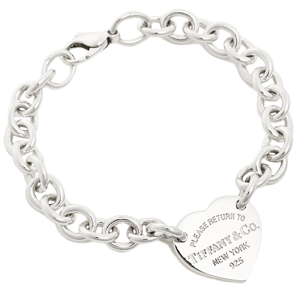 Tiffany Co Bracelet 21149799 Return Toe Tag Medium Rtt Heart Ss 7 5in Bangle Silver