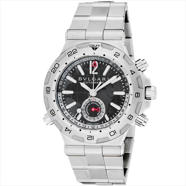 【期間限定ポイント5倍】ブルガリ 時計 メンズ BVLGARI DP42C14SSDGMT ディアゴノプロフェッショナル 自動巻き 腕時計 ウォッチ シルバー/ブラック