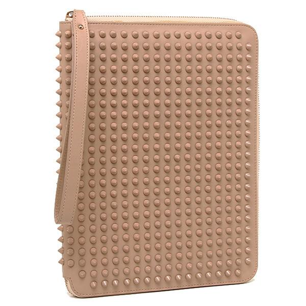 크리스체르브탄 CHRISTIAN LOUBOUTIN 크리스체르브탄 iPad 케이스 Christian Louboutin 3120247 BG4W CRIS TABLET CASE CALF PARIS/SPIKES 타블렛 케이스 NUDE