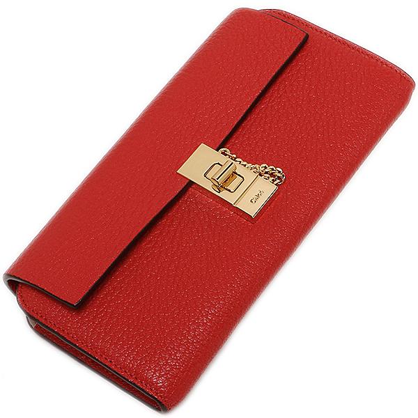 Chloe CHLOE purse wallet by Chloe CHLOE 3P0781 944 B5M DREW LONG WALLET WITH FLAP wallets purse PLAID RED