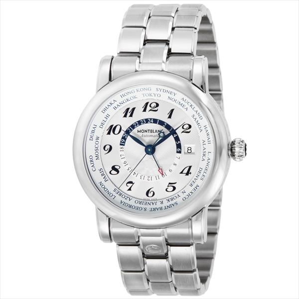 【2時間限定ポイント10倍】モンブラン MONTBLANC 時計 腕時計 メンズ モンブラン 時計 メンズ MONTBLANC 106465 STARWORLDTIME 自動巻き 腕時計 ウォッチ ホワイト/シルバー