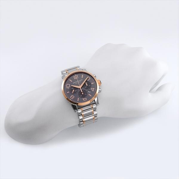 몽블랑 MONTBLANC 시계 손목시계 맨즈 몽블랑 시계 맨즈 MONTBLANC 107321 TIMEWALKER 자동감김 손목시계 워치 그레이/실버
