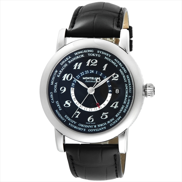 モンブラン MONTBLANC 時計 腕時計 メンズ モンブラン 時計 メンズ MONTBLANC 109285 STARWORLDTIME 自動巻き 腕時計 ウォッチ ブラック