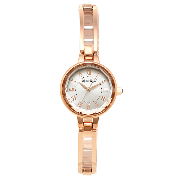 러로 사 Rosa Rubin 시계 시계 루빈로 사 Rosa 시계 R015SOLPWH 여성용 Rubin 태양 시계 골드/화이트 쉘