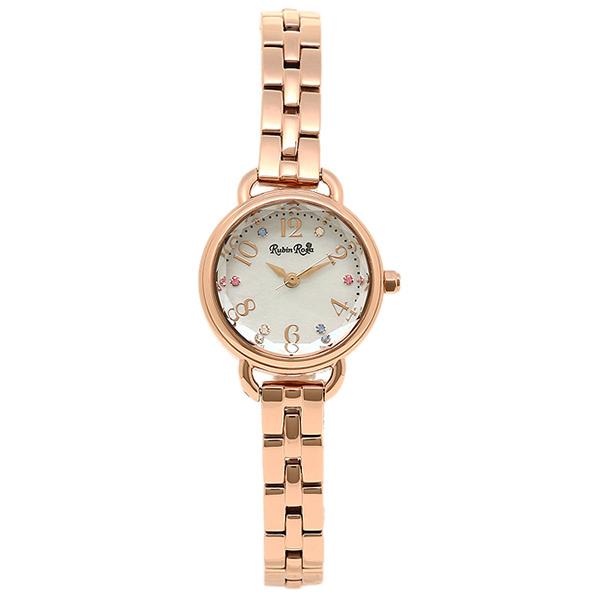 【返品OK】ルビンローザ Rubin Rosa 時計 腕時計 ルビンローザ 時計 レディース Rubin Rosa R019SOLPWH ソーラー 腕時計 ウォッチ ゴールド/ホワイトシェル
