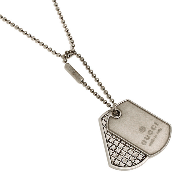 Brand shop axes rakuten global market gucci gucci necklace gucci gucci gucci necklace gucci pendant gucci 272848 j8400 8111 diamante dock tag necklace palladium aging processing vintage silver silver 925 mens ladys mozeypictures Gallery